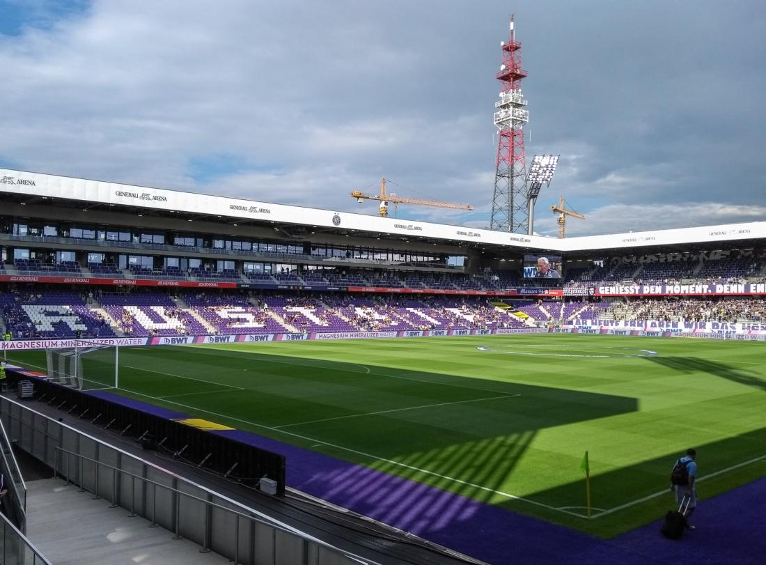 Generali Arena before a match.
