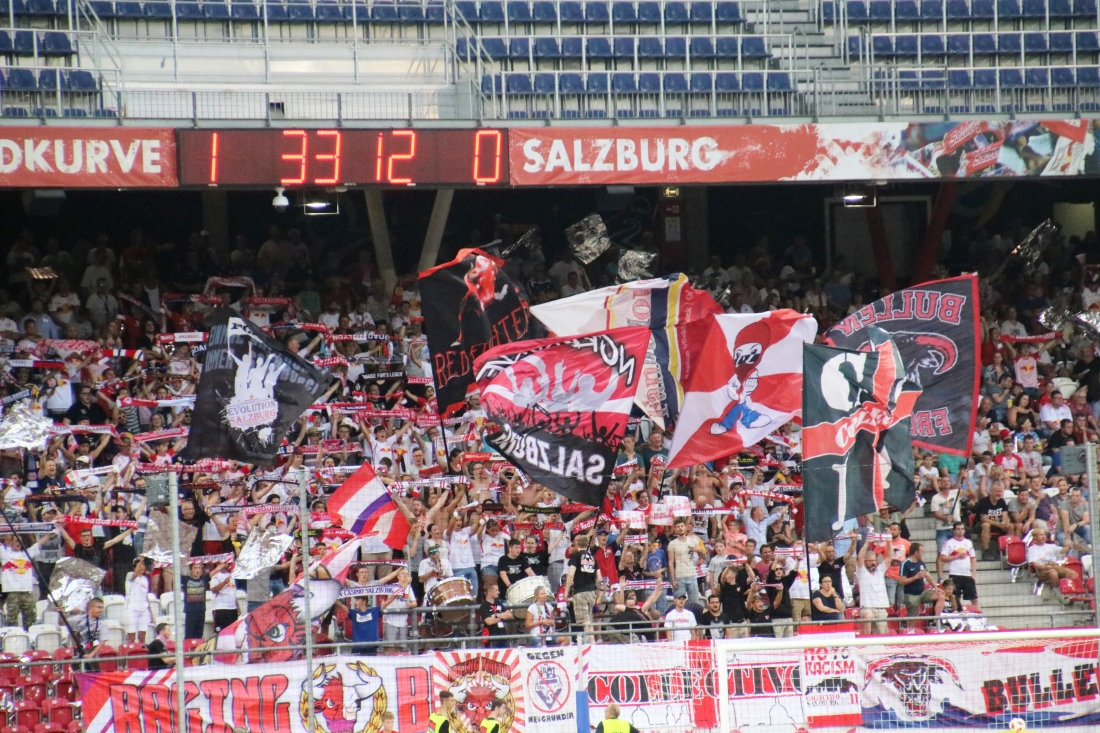 Salzburg in the Champions-League qualifier 3rd round vs Shkëndija this past Wednesday